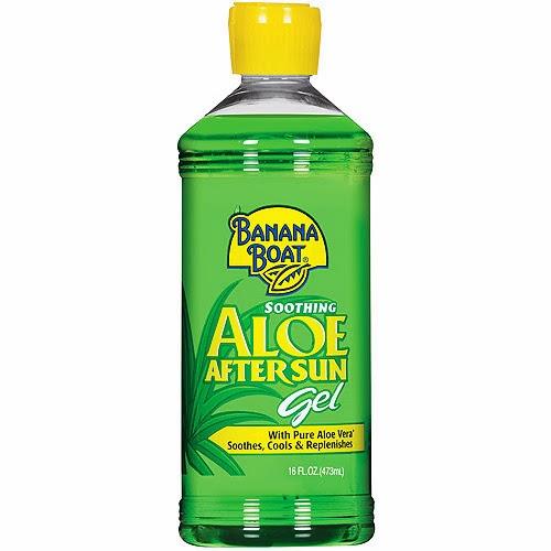 I used Banana Boat Aloe After Sun Gel, $4.24 at Target