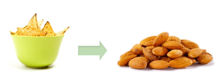salty foods to almonds