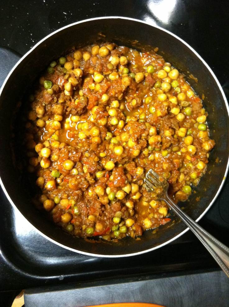 As the curry simmers, it will thicken up. Taste as you go and add more spices accordingly! I usually add more garam masala.